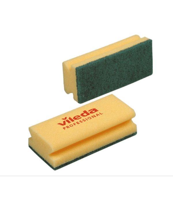 Szivacs 70х 95mm 10db/csomag Vileda zöld dörzsi felülettel (125604/125603)