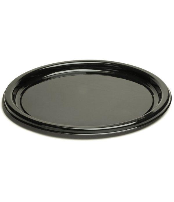 Sabert táloló tálca d=26cm fekete (25 db/csomag)