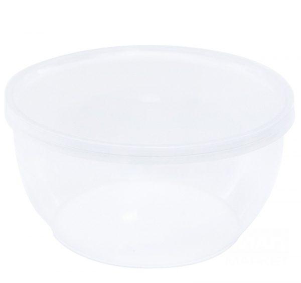 PP élelmiszer tároló doboz 360ml d-112mm h-55mm (50 db/csomag)