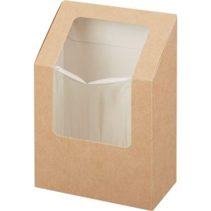Salátás doboz 90x50x130 mm, kraft (25 db/csomag)
