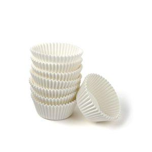 Kerek papír kapszula d=50mm, h=25mm, fehér (1000 db/csomag)