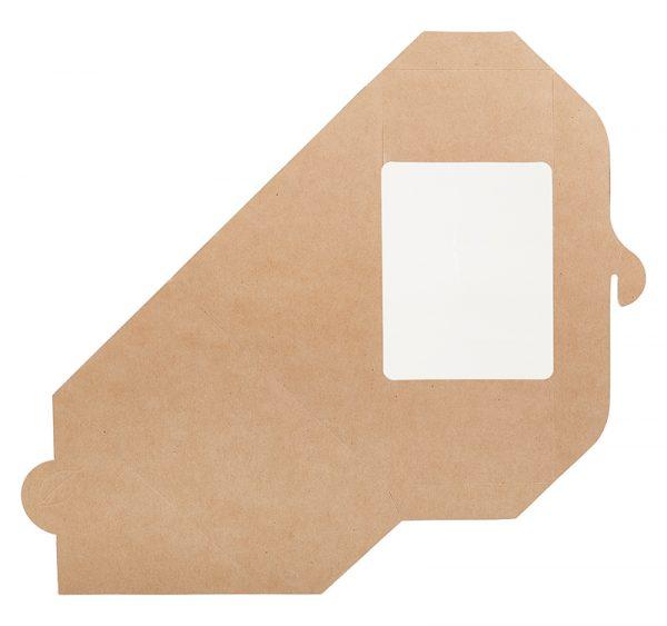 Szendvicses papírdoboz ablakos ECO SANDWICH 70 130х130х70 mm, kraft (50 db/csomag)