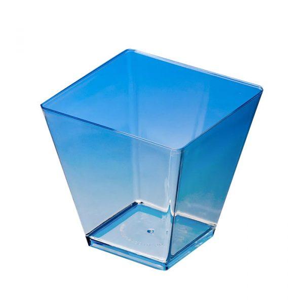 Pagoda forma maxi 80х80mm PS, 200ml átlátszó (12 db/csomag)