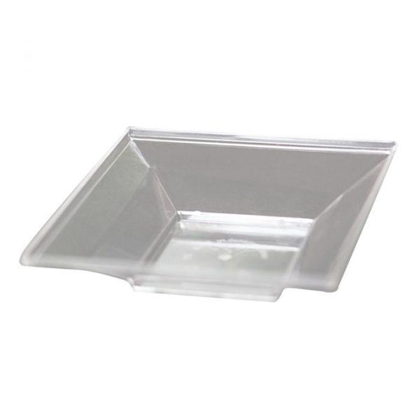 Tányér forma négyzetes mini 65х65mm PS, 45ml átlátszó (art 5012)