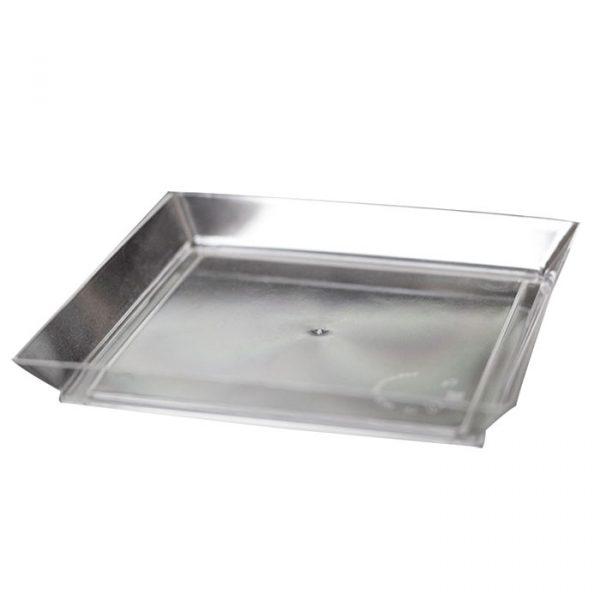 Kockás tányérforma maxi 130х130mm PS, 130ml átlátszó (192 db/csomag)
