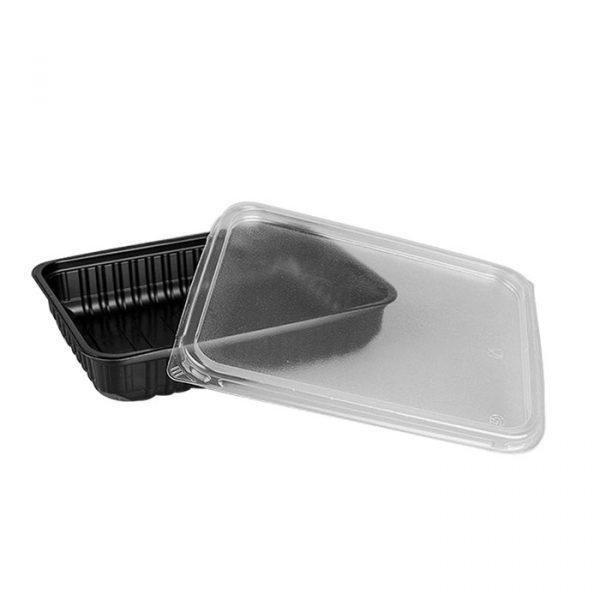 PP doboz SP 500ml 179х132х35mm téglalap alakú, fekete (50 db/csomag)