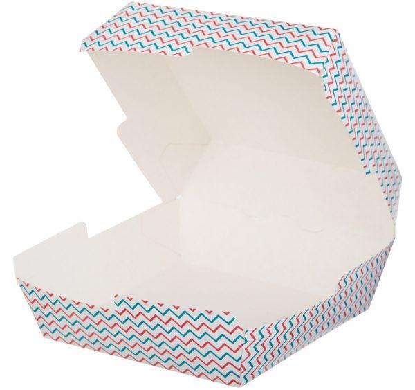 Hamburgeres doboz Happy Life 120х120х70mm (50 db/csomag)
