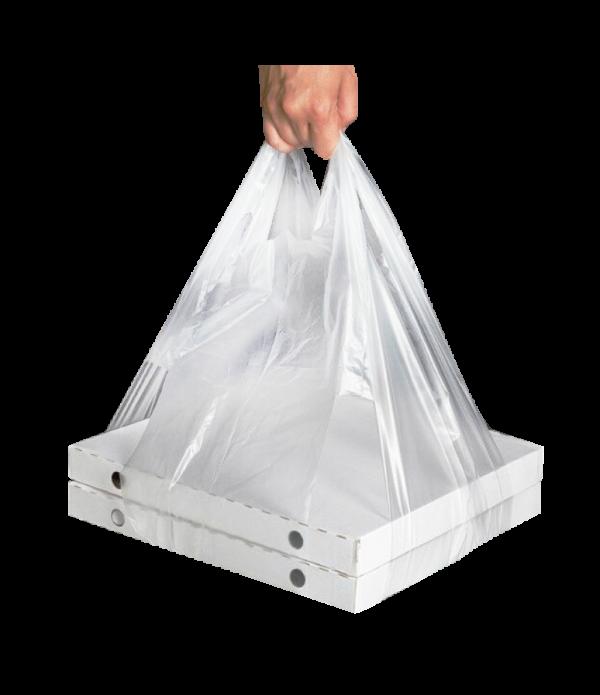 Tasak PND 32 + 24×60 átlátszó 14 mikron egy doboz pizzához (100 db/csomag)