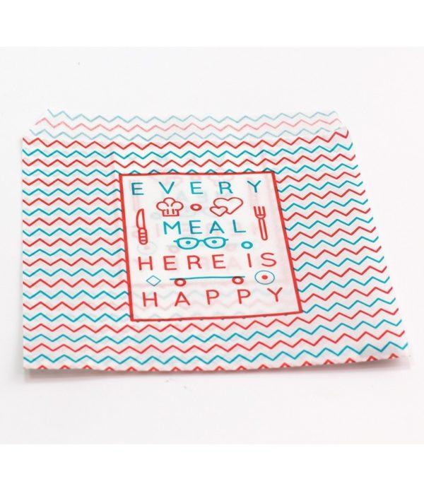 Hamburger tasak papír 150х170mm Happy Life (2500 db/csomag)