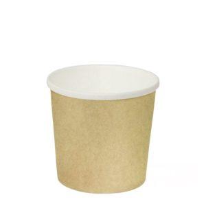 Papírdoboz d=90mm, h=85mm 300 ml kraft papír forró italokhoz (50 db/csomag)