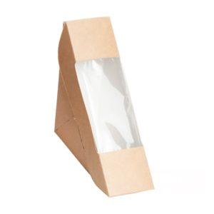 Szendvicses papírdoboz ablakos ECO SANDWICH 50 130х130х50 mm, kraft (600 db/csomag)
