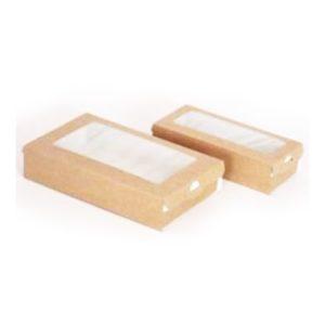 Papírdoboz tartó ablakos ECO CASE 500 170х70х40 mm 500 ml, kraft (400 db/csomag)