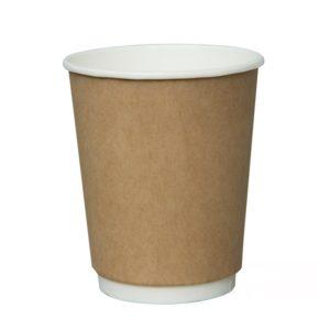 Pohár 250 ml papír d=80mm 2-х rétegű kraft forró italok számára (25 db/csomag)