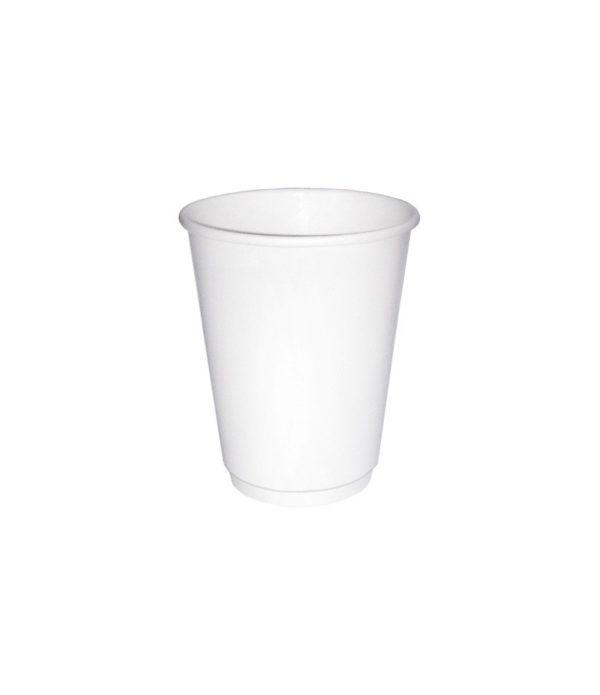 Pohár 250 ml papír d=80 2 rétegű fehér (25 db/csomag)