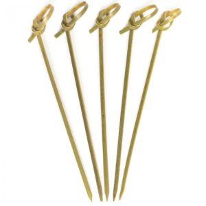 Bambusz pálcika csomós végű 15 cm 100db/csomag