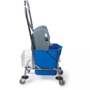Egyvödrös takarítókocsi 25 l mechanikus préssel és műanyag kosárral