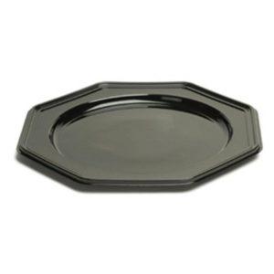 Sabert tál d=30cm 8-szögletű fekete (10 db/csomag)