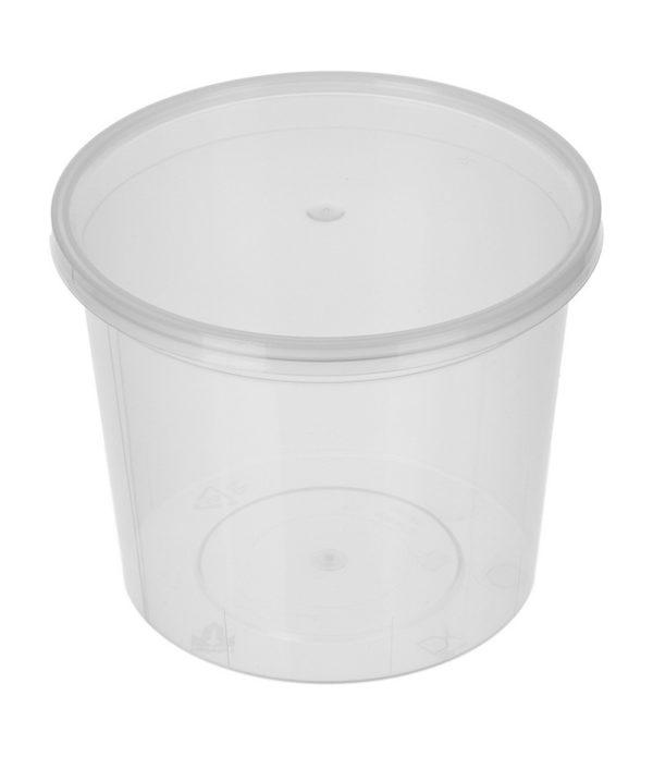 PP élelmiszer tároló doboz 500ml d=112mm h=77 (50 db/csomag)