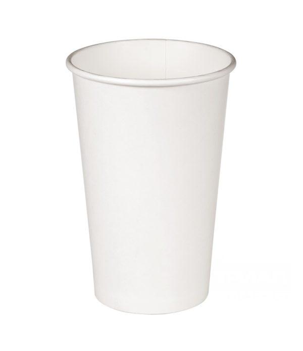 Pohár 400 ml papír fehér d=90mm forró italokhoz (50 db/csomag)