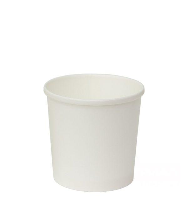 Papírdoboz d=90mm, h=85mm 300 ml fehér forró ételek számára (100 db/csomag)