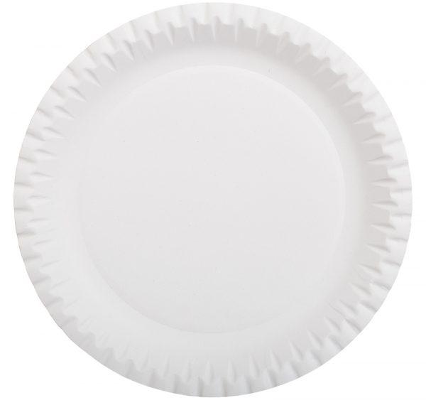 Kerek fehér lemez = 230 mm laminált kartonból (100 db/csomag)