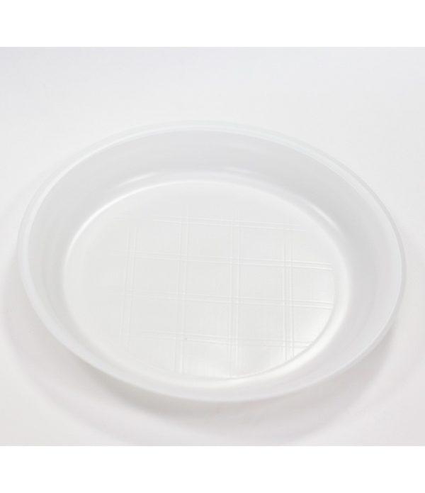Műanyag tányér d=205mm fehér kiszerelésben SP (100 db/csomag)