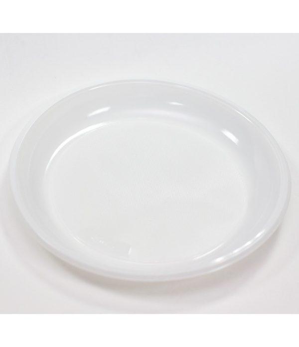 Műanyag tányér d=220mm kiszerelés INT (50 db/csomag)