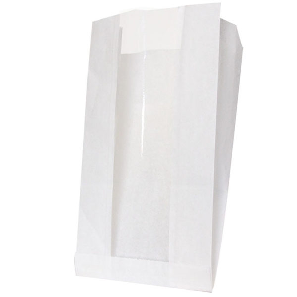 Papírzacskó 200(100)х60х300 ablakos, Viaszolt papír 40 (1000 db/csomag)