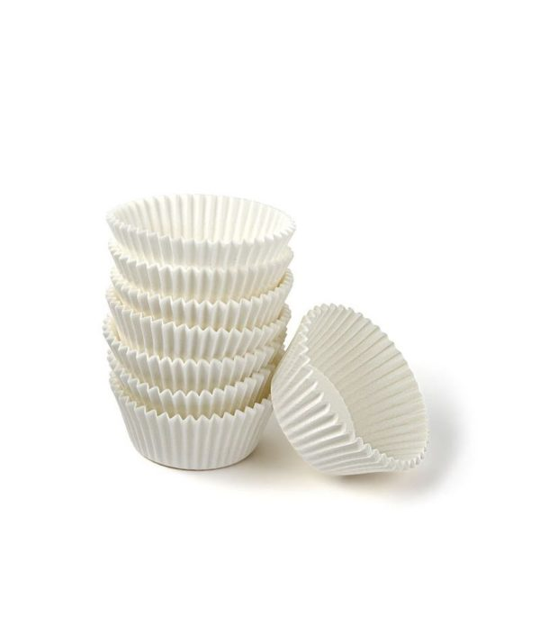 Kerek muffin sütőpapír d=35mm, h=20mm, fehér (2000 db/csomag)