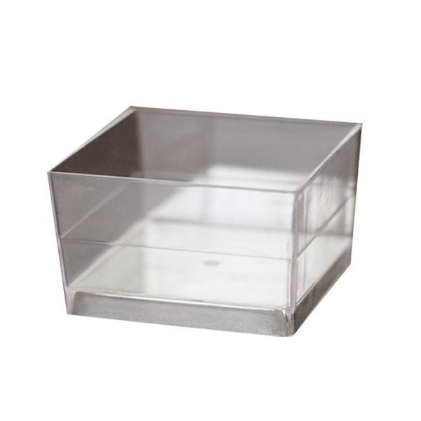 Kocka forma 47х47mm PS, 60ml átlátszó (15 db/csomag)