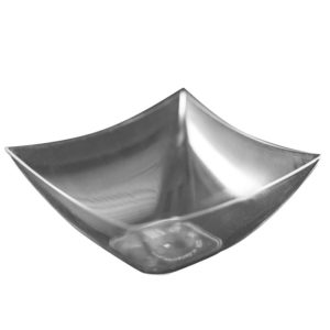 Kvadratna posodica 70x70mm, 90 ml, prozorna, PS