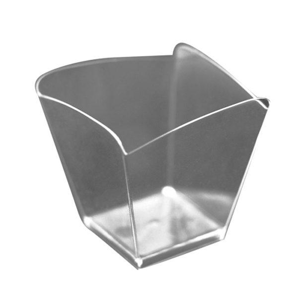 Hullám forma 57х57mm PS, 95ml átlátszó (25 db/csomag)