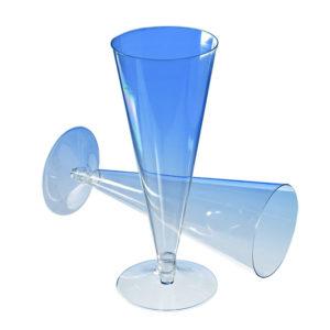 Pezsgős pohár kúpos PS 150ml, átlátszó (390 db/csomag)