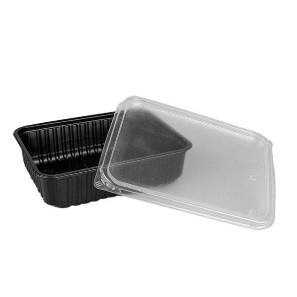 PP doboz SP 750ml 179х132х48;5mm  téglalap alakú, fekete (50 db/csomag)