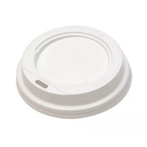 Pokrov s stransko luknjo, d=73 mm bel PS
