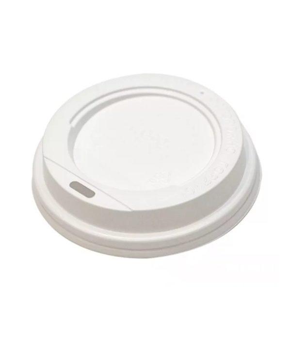 Műanyag fedél oldalsó lyukkal d=73mm, fehér (100 db/csomag)