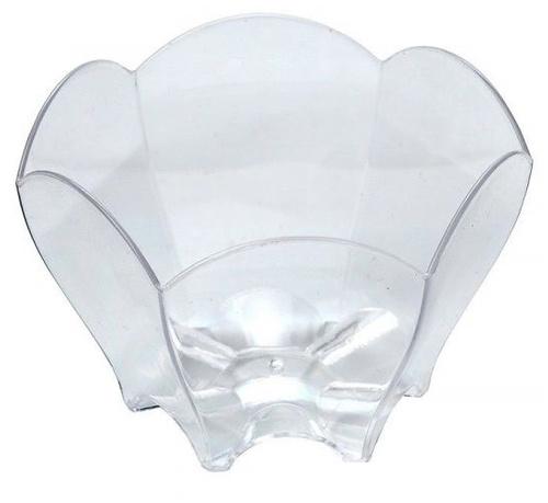 Tulipán forma d-65mm PS, 70ml átlátszó (25 db/csomag)