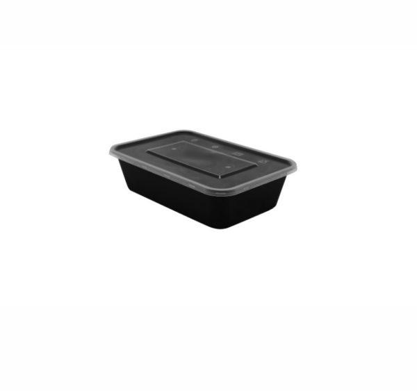 Üveg PP TaMbien 170x115x55mm 750ml fekete (50 db/csomag)