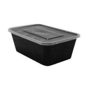 Üveg PP TaMbien 170x115x65mm 1000ml fekete (50 db/csomag)