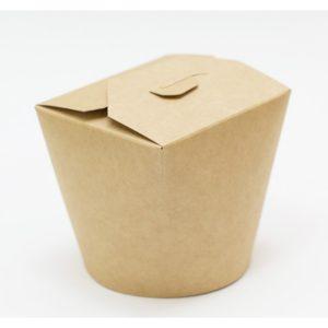 Papírdoboz PKR 138х94х98;4mm 700ml kraft papír, kerek alj (50 db/csomag)