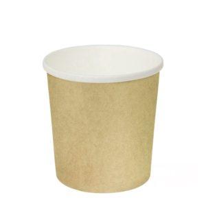 Papírdoboz d=98mm, h=99mm 500 ml kraft papír forró italokhoz (25 db/csomag)