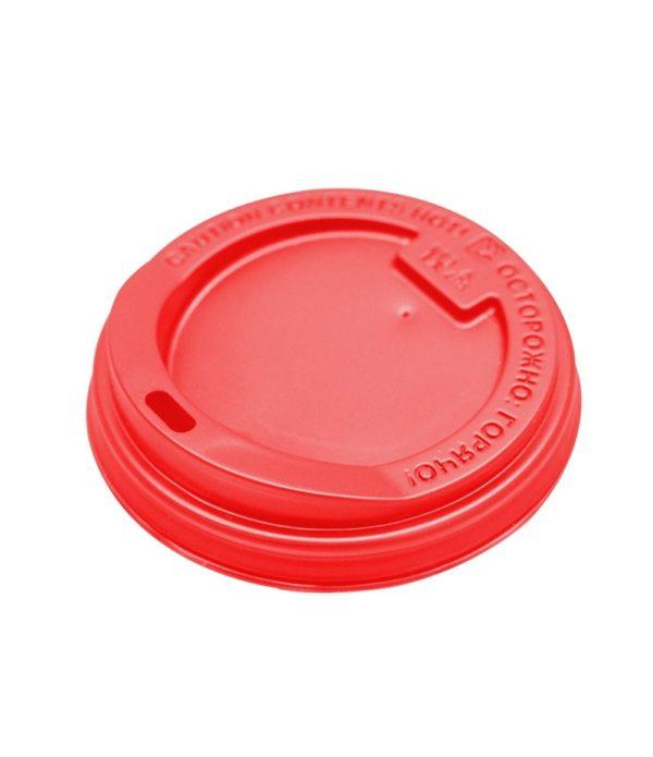 Fedél műanyag oldalsó lyukkal d=90mm piros (100 db/csomag)