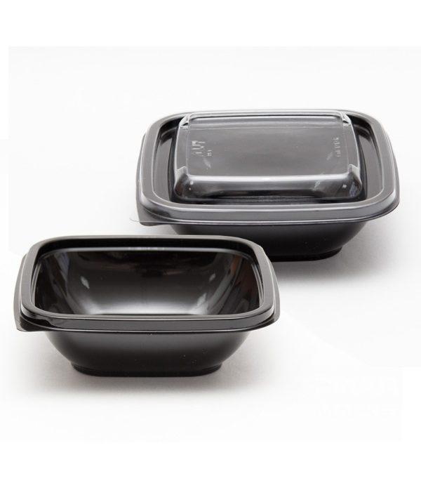 doboz PET 126х126х38;5 mm 250 ml, fekete (50 db/csomag)