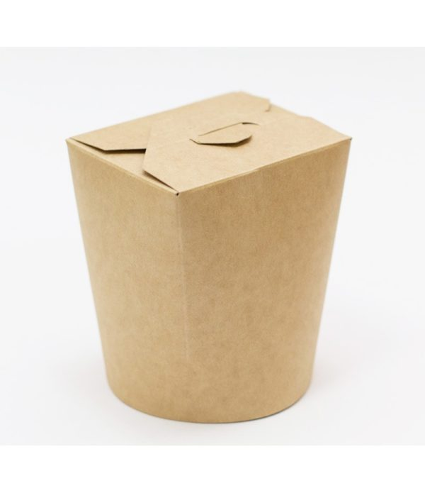 Papírdoboz PKR 103х84х97;5mm 500ml kraft papír, kerek alj (30 db/csomag)