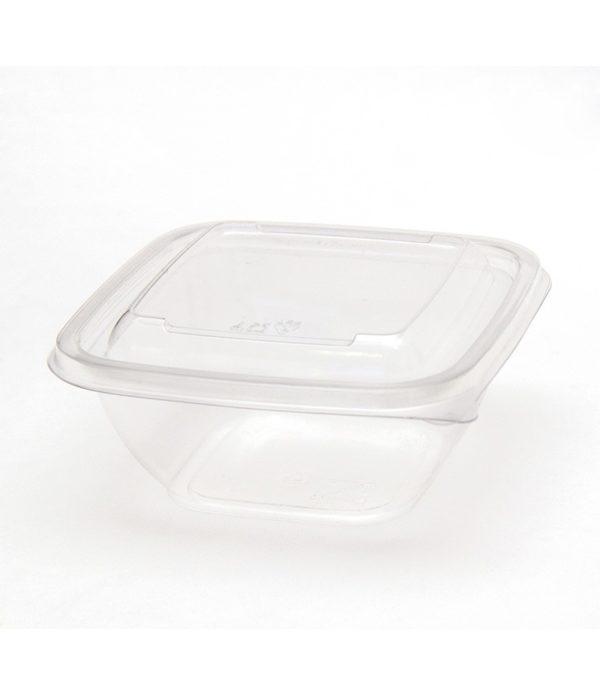 Doboz PET 126х126х51;5 mm 375 ml, átlátszó (50 db/csomag)