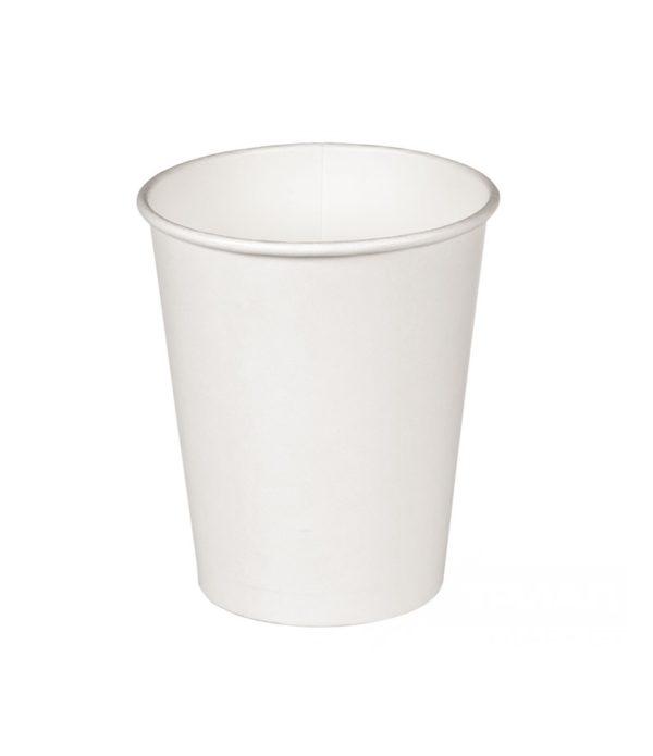 Pohár 300(400) ml papír d=90 mm fehér forró italok számára fényes (37 db/csomag)