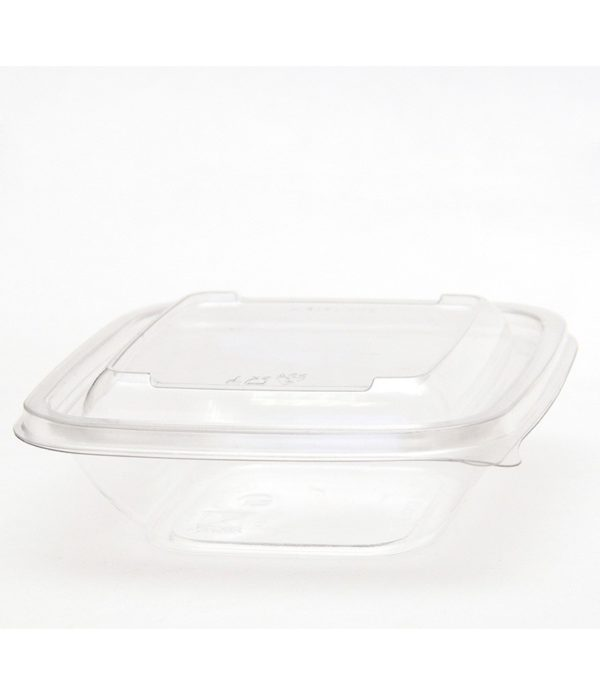 Doboz PET 126х126х38;5 mm 250 ml, átlátszó (50 db/csomag)