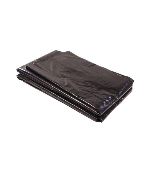 Szemeteszsák 200l alacsony nyomású polietilén 80µm fekete (50 db/csomag)
