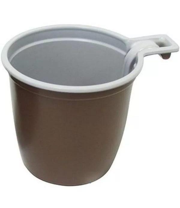 Kávéscsésze 180ml fehéres barna IНТ (50 db/csomag)