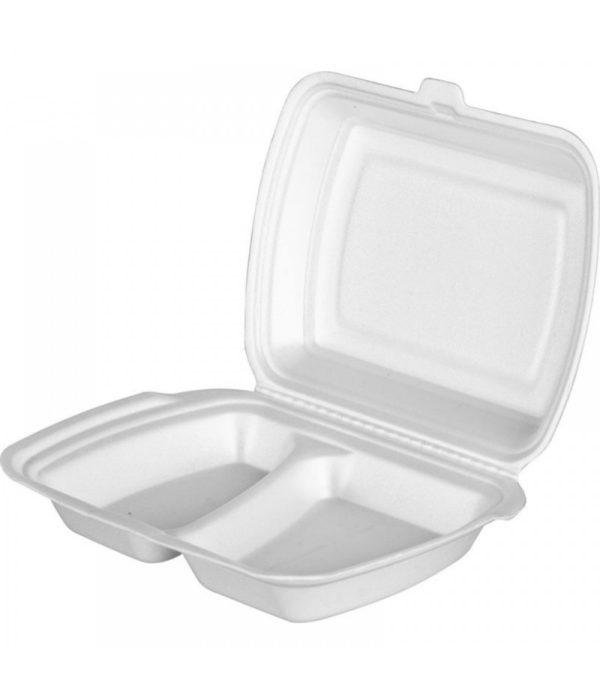 Ebédes doboz hungarocell 2 részes 250х210х35mm (100 db/csomag)